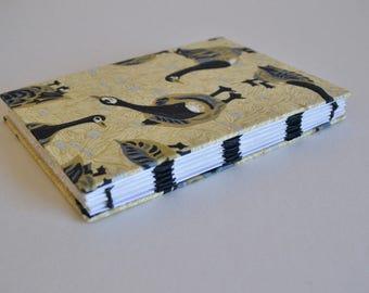 Geese Open Spine Link Stitch Sketchbook/Journal
