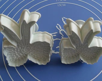2 molds away Pieces sold by nodes flowers dough has sugar almond paste
