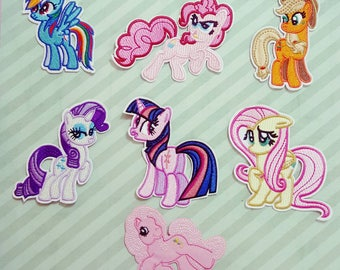little pony emroided iron on patches