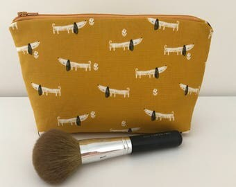 Dachshunds makeup bag, cute dog cosmetic bag