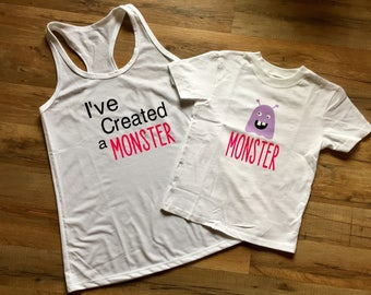 I've Created a Monster Tee & Tank | Mom and Baby Twinning | Matching Shirts | Funny