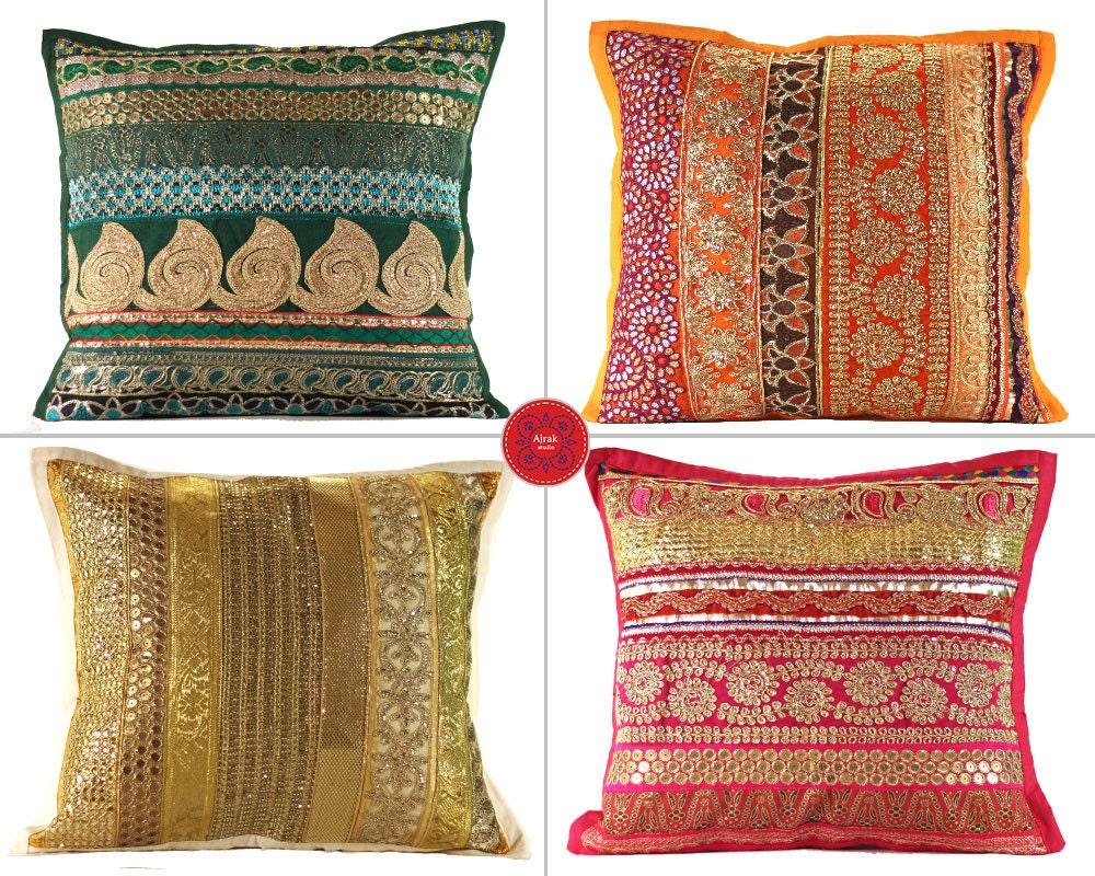 Bohemian Style Throw Pillows : Throw Pillows Boho Decorative Pillow Home Decor by AjrakStudio