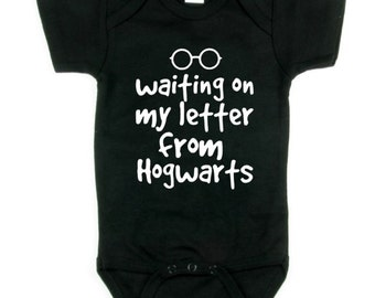 Harry Potter Letter From Hogwarts Funny Baby Onesie, Many Colours to Choose From, Newborn to 18 months