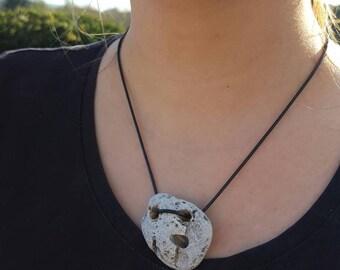 Witch stone, hag stone, adder stone, holey stone, holed stone pendant, beach pebble necklace, #22