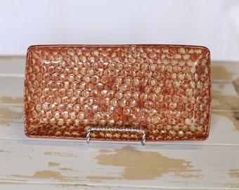 Handmade Small Textured Tray