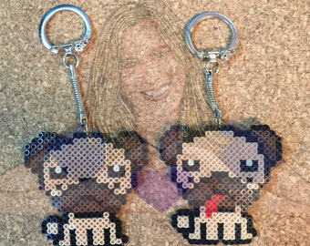 Pug Key Chains, buttons and Magnets