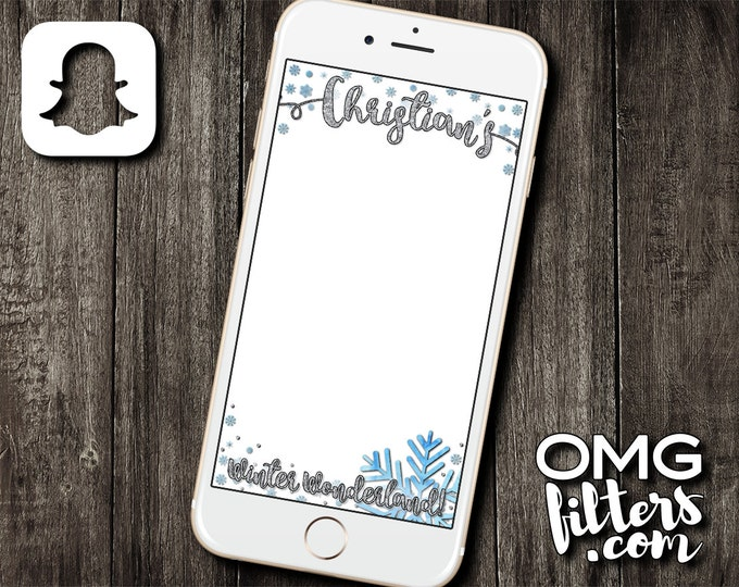 Winter Wonderland Geofilter - Custom Snapchat Filter - Birthday / Baby Shower - Any Event - Any age!