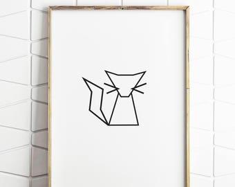 cat wall art, cat print, cat poster, cat pictures, cat downloads, cat wall print, cat printable art, instant download, cat art