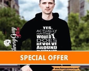 Trombone Hoodie Musician Gift Music Teacher Gift Music Lovers Trombone Hoodies - The World Revolves Around Trombones