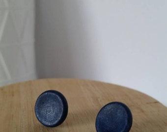 Stud earrings, polymer clay stud earrings, surgical steel backing posts, hypoallergenic.