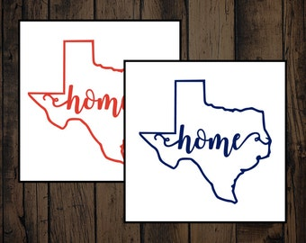 Home Texas Decal. Texas Yeti Decal, Texas Car Decal.