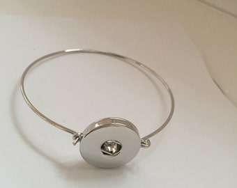 Stacking Snap Button Charm Bangle