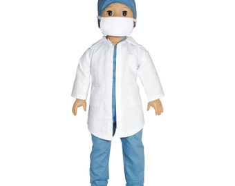 6 Piece Doctor Outfit set for 18 inch dolls