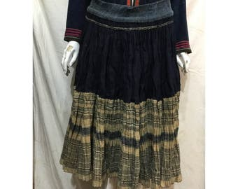 Vintage tribal Hmong handwoven hemp skirt in the north of Vietnam