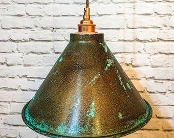 Verdigris copper 260mm pendant set