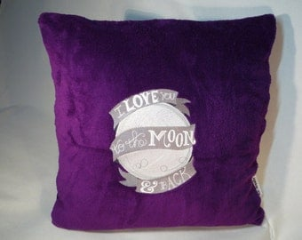 Embroidered pillows, cuddly pillow,