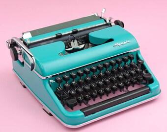 Caribbean green 50s Olympia typewriter