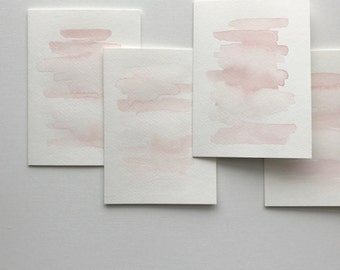 Watercolor Wash Cards - Petal Pink