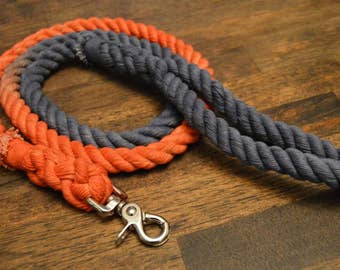 FootBall Team Dog Leash/Lead: All Natural Cotton Rope Football Team Leashes
