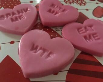 Valentines Soap, Valentine's Day gift, valentines gift, gift for him, gift for her, naughty gift, novelty soap, naughty soap, novelty gift,