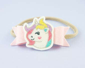 Unicorn Headband | Cute Newborn Headband | Baby Girl Headband | Unicorn Feltie | Unicorn Accessory | Handmade Baby Hair Accessory