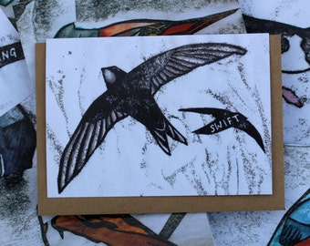 Swift Card | Greetings Card | British Birds | Printed in the UK on Recycled Card