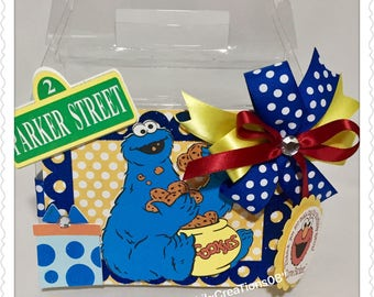 6 Cookie Monster Inspired Treat Box