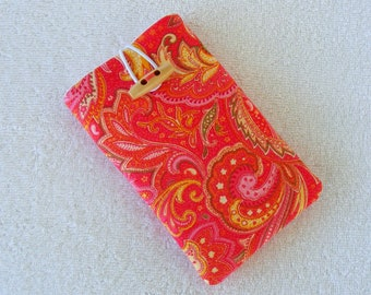 "IPhone Cover, IPhone Case, Cell Phone Case, Cell Phone Cover, IPhone 6 Case, IPhone 7 Case, Pink Paisley Cell Phone Case, 6""  x 3 1/2"""