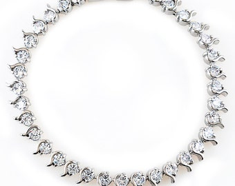 Pear Drop Cubic Zirconia Bracelet