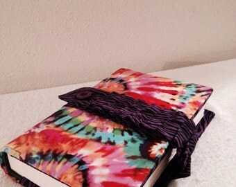 "Beautiful Tie Dye and Purple Zebra Bible Or Book Cover  9.5"" Length x 6.5"" wide x 1.5"" depth"