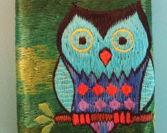Embroided Owl Wallet