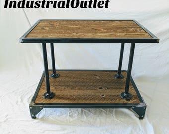 Industrial Barnwood Coffee Table.