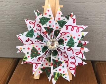 NEW! Christmas ribbon  girl dog bow