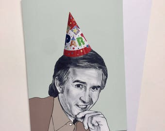 Happy Birthday A5 Illustrative Card - Alan Partridge