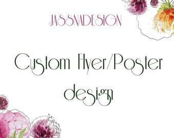 Custom flyer design - Business flyer design - Product flyer - Print ad design - Leaflet design - Custom poster design