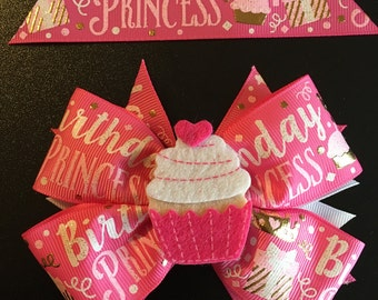 Birthday Princess Hair Bow