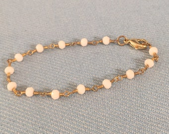 Rosary Chain Bracelet with Lobster Clasp Closure