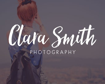 Handwritten Logo Design | Photography Logo and Watermark | Photography Watermark | Premade Logo | Watermark