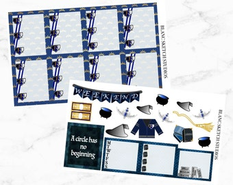 Ravenclaw weekly planner singles - Harry Potter sticker kit - Erin Condren Life stickers - eclp - MAMBI happy - Recollections - Hogwarts