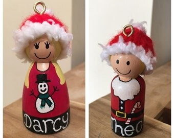 Personalised Peg Tree Decorations