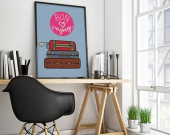 Bon Voyage Travel Print (PDF Downloadable File)