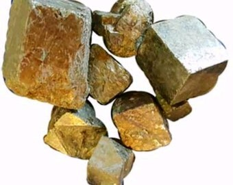 1 lb Pyrite cubed stones