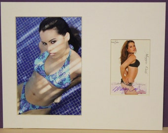Maggie Cash Signed Autograph Bench Warmer Card plus 5x7 Print Photo and Matted to a full size of 8x10