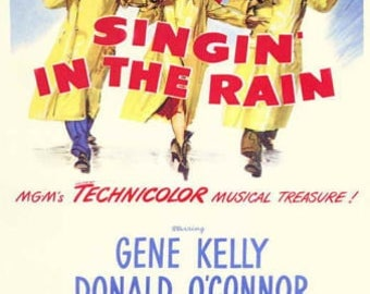 Singin' in the Rain , 11 x 17 Movie Poster - Style D