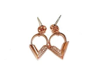 Tough Cookie's Women's 92.5% Silver LV Unique Earrings