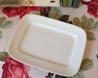 Antique White Ironstone Platter Rectangular By J&G Meakin Hanley England