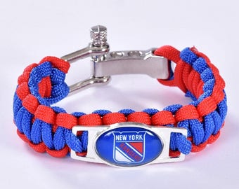 New York Rangers NY Paracord Survival Bracelet with Adjustable Shackle