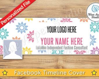 Facebook Timeline Cover Photo JPG File Personalized Name Banner FB Profile Image jpg jpeg Logo  FBT108