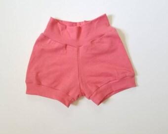 baby short - toddler shorts - kids shorts - coral shorts- pink shorts