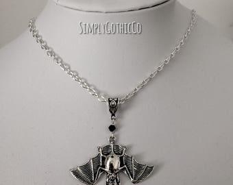 Gothic Simple Bat Necklace